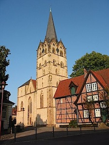 The Herford Minster is the oldest and biggest church of Herford. Built from 1220 to 1250, it's the first major construction of a hall church in Germany and today the biggest hall church in Westphalia