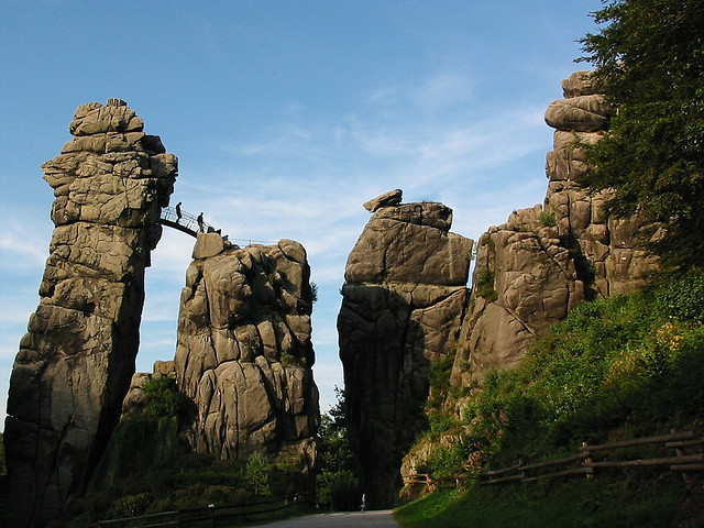 The Externsteine are a distinctive rock formation in the Teutoburg Forest and thereby an outstanding natural landmark in Germany