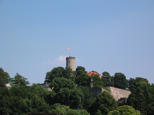 The Sparrenburg (Sparrenberg Castle) is the most famous landmark of Bielefeld, Herfords biggest nearby city, and sits enthroned 60 meters above the city center. It offers visitors insights in the elaborately restored castle grounds.